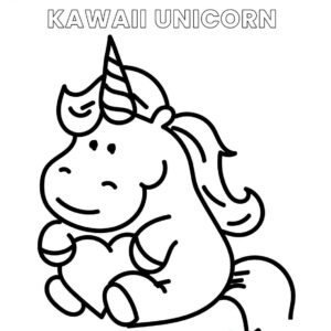 Kawaii unicorn fácil