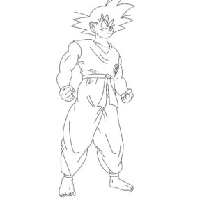Son gohan de dragon ball z dibujo colorear