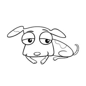 Caricatura perrito dormido