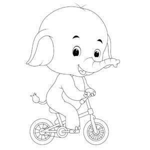 Elefante en bicicleta