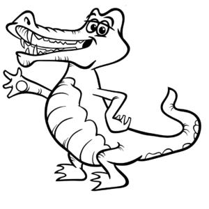 Un cocodrilo alargando la mano